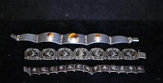 Lot of 3 Israeli & Siamese S.S. Ladies Bracelets