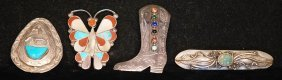 Lot Of 4 Asst S.s. Native American Indian Pieces