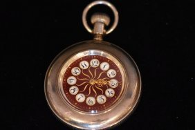 Antique S.s. Open Face Ladies Pocket Watch