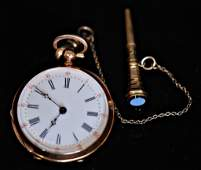 Antique Swiss Open Face Ladies Pocket Watch
