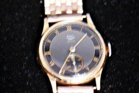 Vintage Super Almo 294 18k Gold Man's Watch