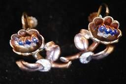 Pair of Vintage 14k Gold Earrings