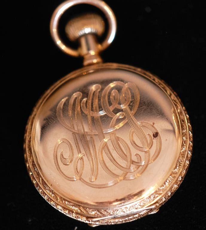 Antiq. Waltham 14k Ladies Closed Face Pocket Watch