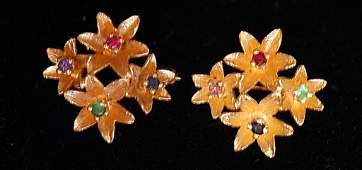 Pr. Vintage 14K Ladies Pins
