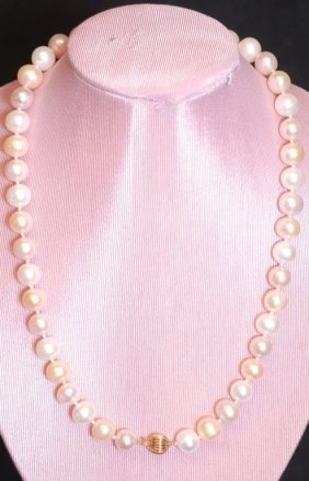 "Vintage 16"" Two-tone Ladies' Necklace"