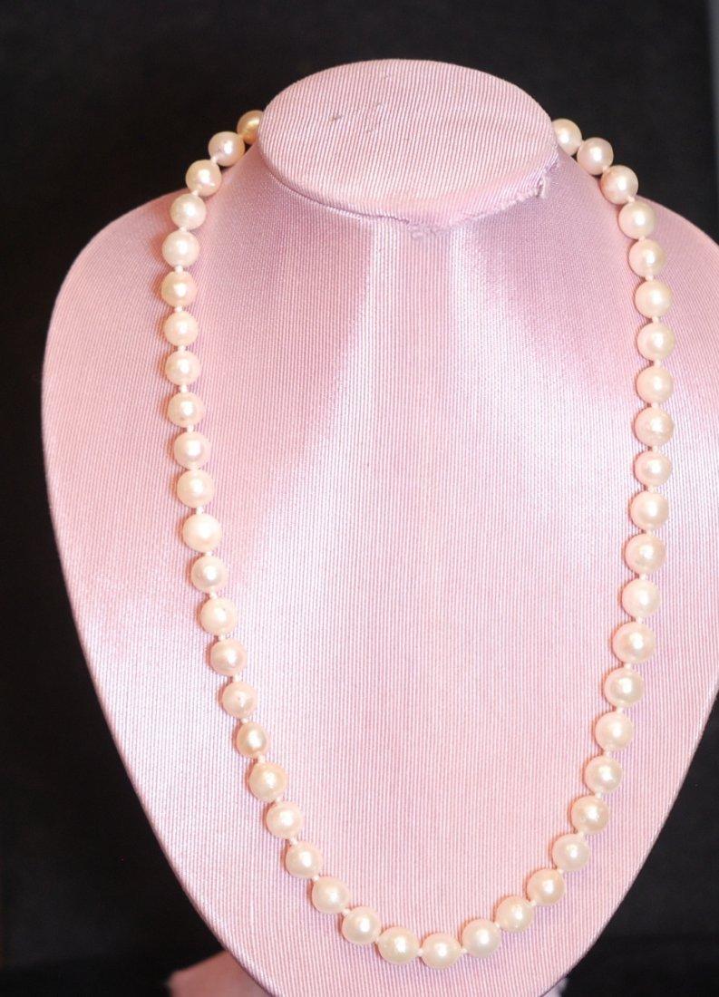 "Vintage 19"" Cultured Pearl Ladies' Necklace"
