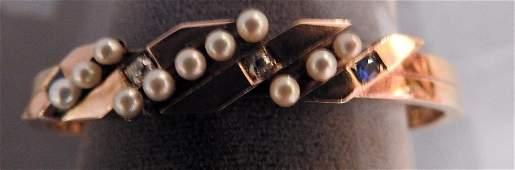 Vintage 14K Rose Gold Ladies Bangle Bracelet
