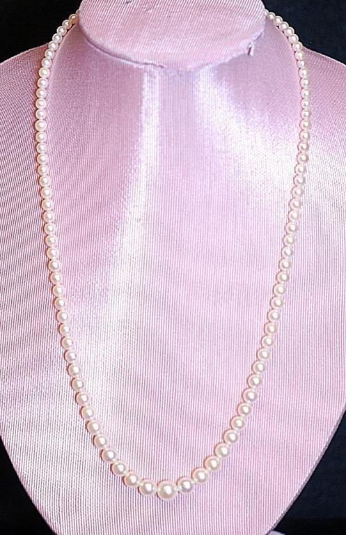 "Vintage 17"" Cultured Pearl Ladies' Necklace"