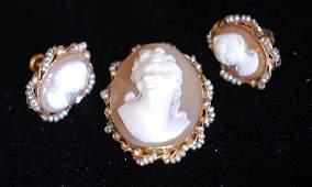 Vintage 3 Pc. Ladies' Pin & Screw-back Earrings