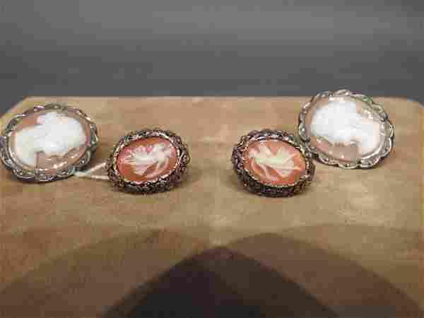 2 Prs. Vintage .800 Silver Ladies' Earrings