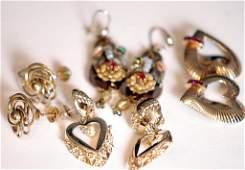 Lot of 4 Pairs of Assorted Ladies Earrings