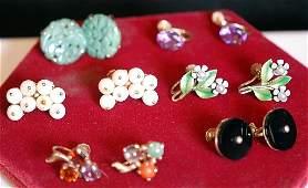 Lot of 6 Pairs of Assorted Ladies Earrings