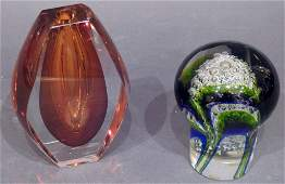 Contemporary Paperweight and Vase