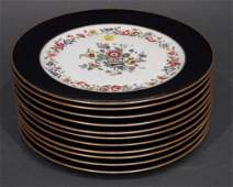 Set of 11 Porcelain Dinner Plates