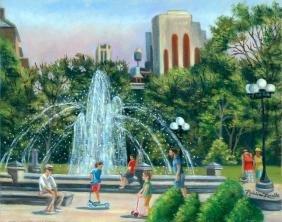 """Fountain at Washington Square"", Madeline Lovallo"