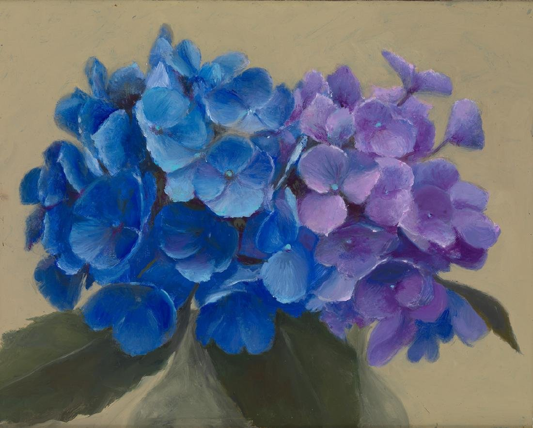"""Blue and Purple Hydrangeas"", Patt Baldino"