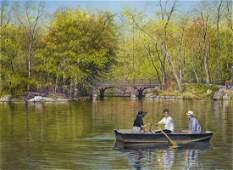 """""""Boating in Central Park"""", Arlene Robbins"""