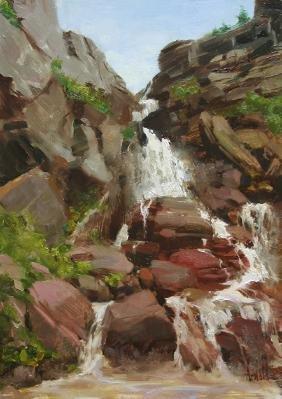 """""""Red Rock Waterfall"""", Carol Arnold"""