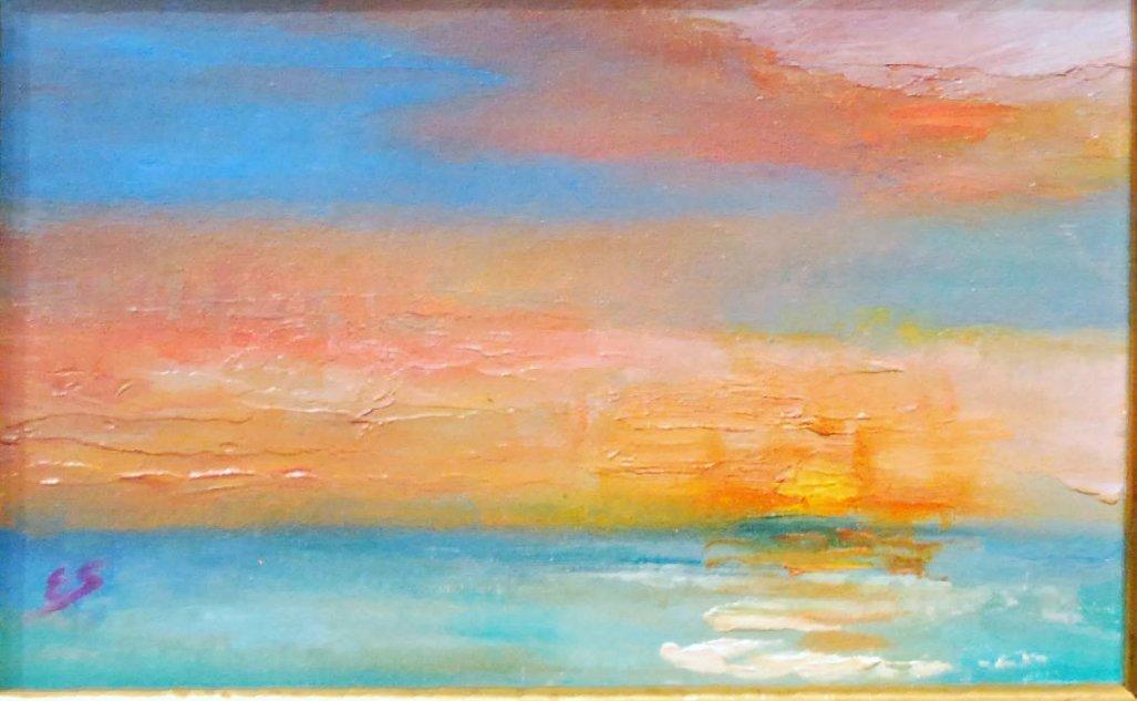 """""""Battery Park Sunset"""", Elizabeth Spencer"""