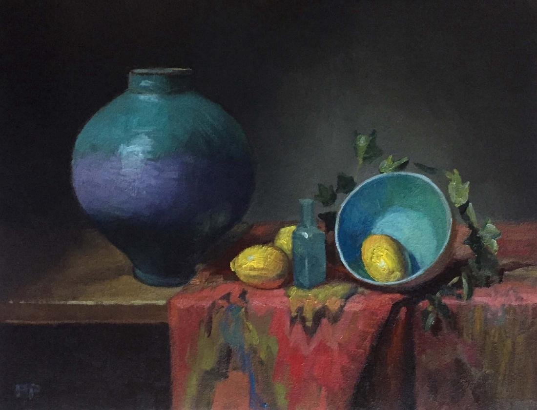 """Globe Vase and Lemons"", Rick Perez"