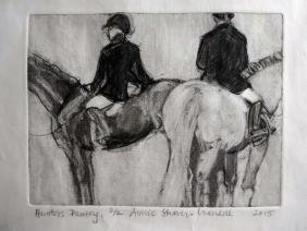 """Hunters Pausing 2/2"", Annie Shaver-Crandell"