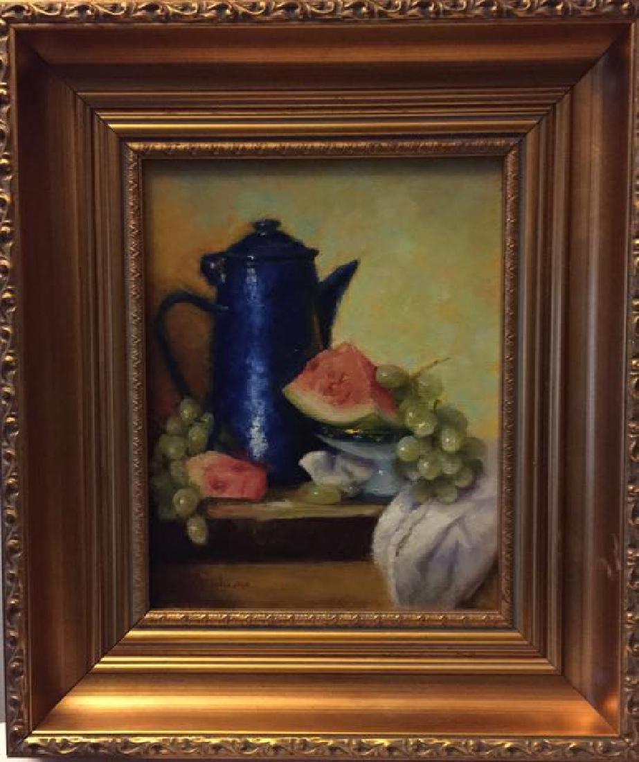 """""""Blue Coffee Pot & Watermelon"""", Mireille Duchesne - 2"""