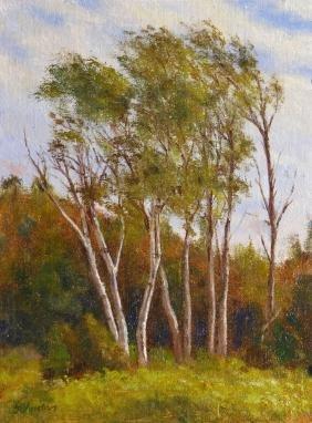 """Harbor Birches"", Laurence Johnston"