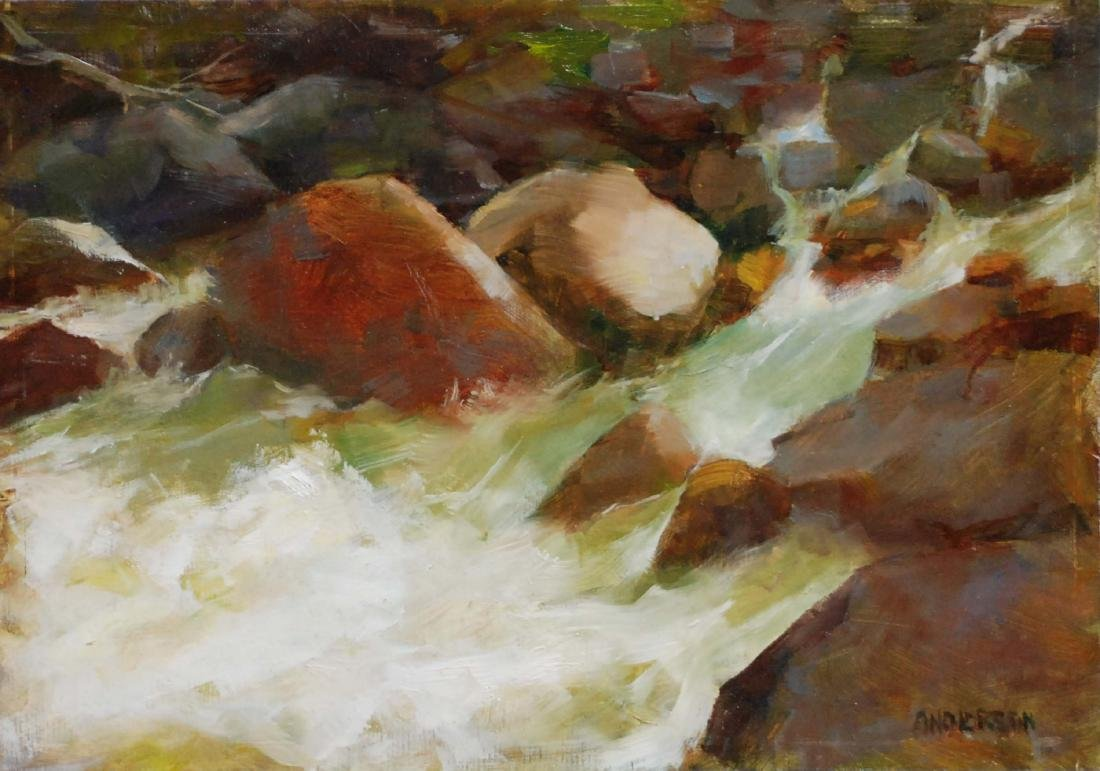 """""""Rocky Mountain Waterfall"""", Kathy Anderson"""