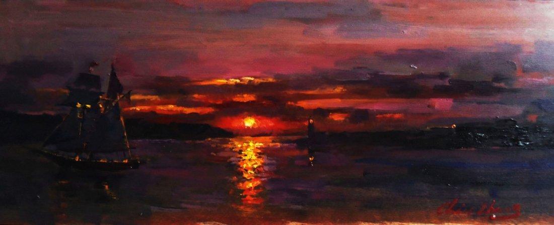 """Sea Sunset"", Christopher Zhang"