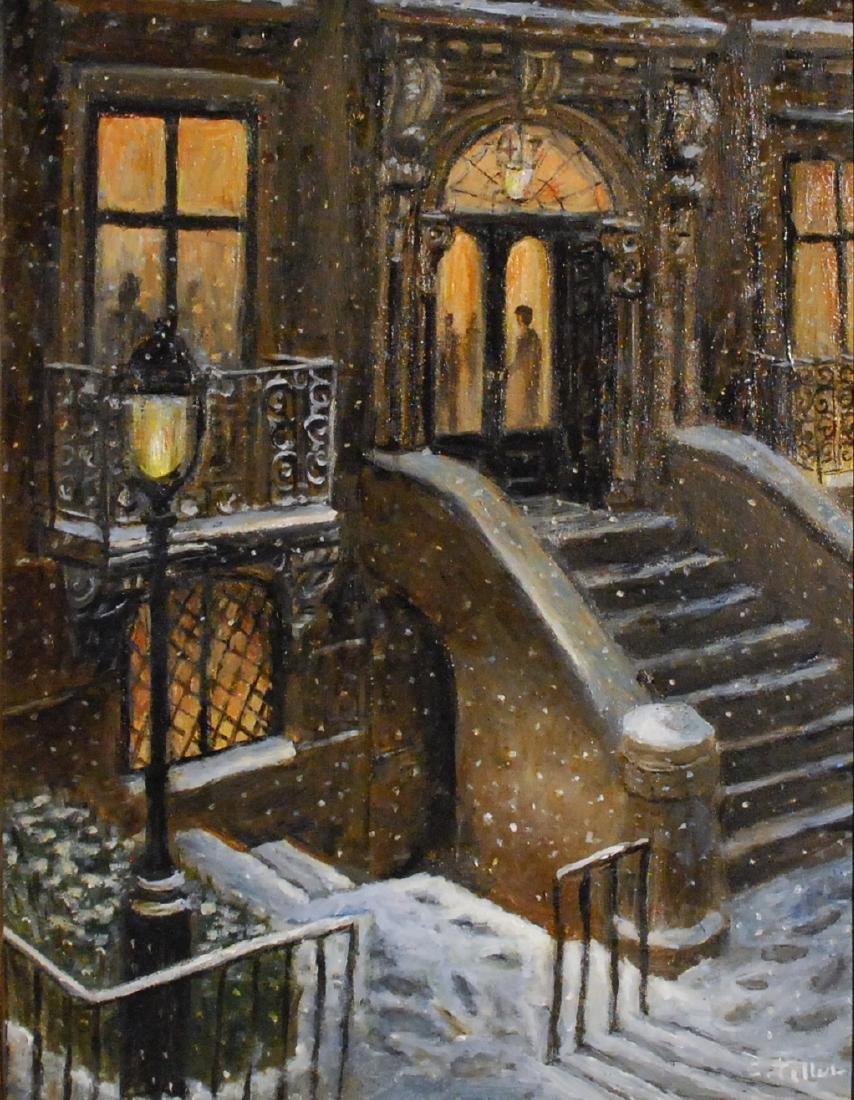 """""""The Club, Snowy Evening"""", Carole Teller"""
