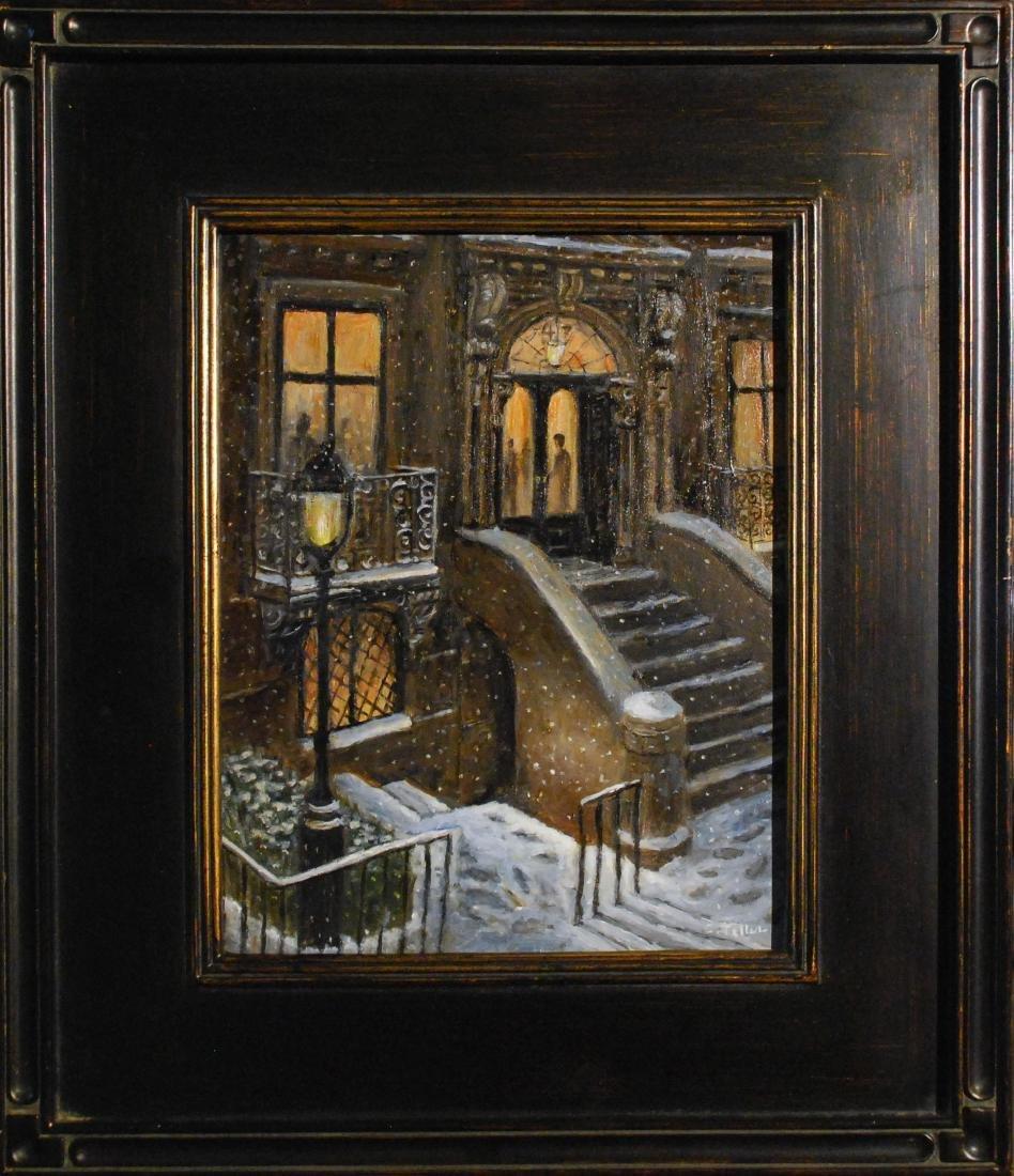 """""""The Club, Snowy Evening"""", Carole Teller - 2"""