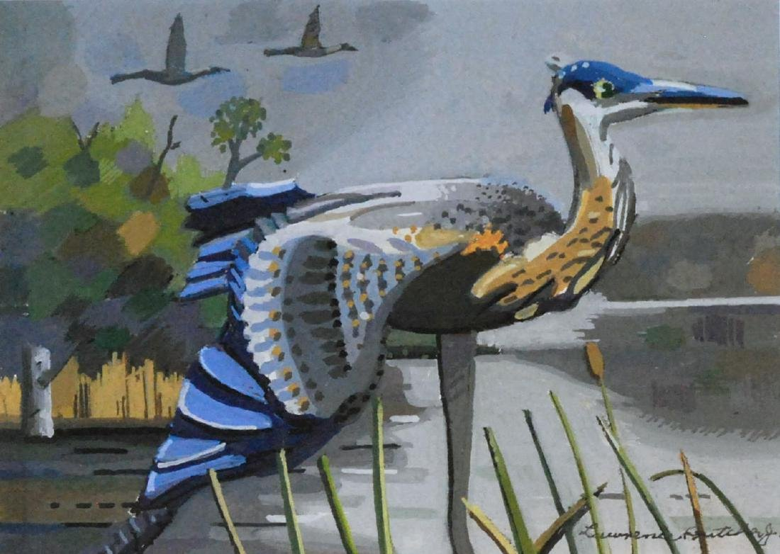 """""""The Great Blue Herron"""", Lawrence Butcher"""