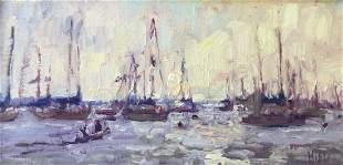 """Morning Light on the Harbor"", Lynn Mehta"