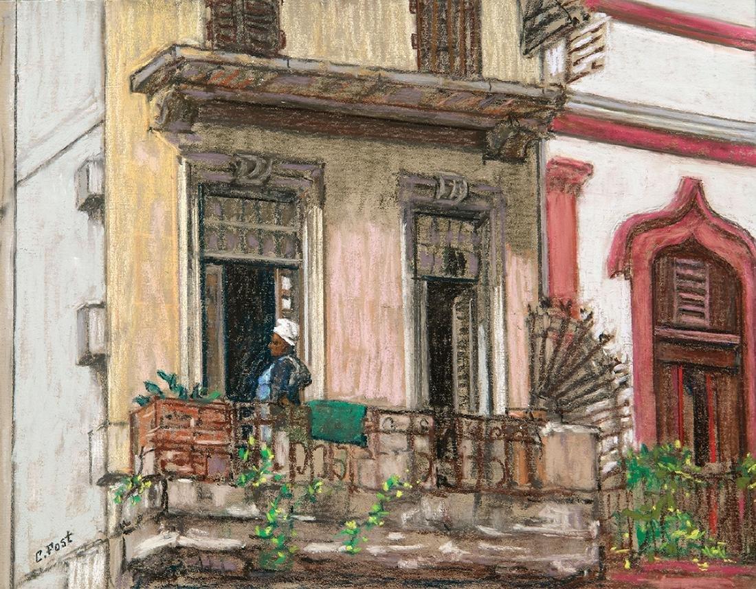 """""""Cuba, Havana Windows  plain air"""", Claudia Post"""