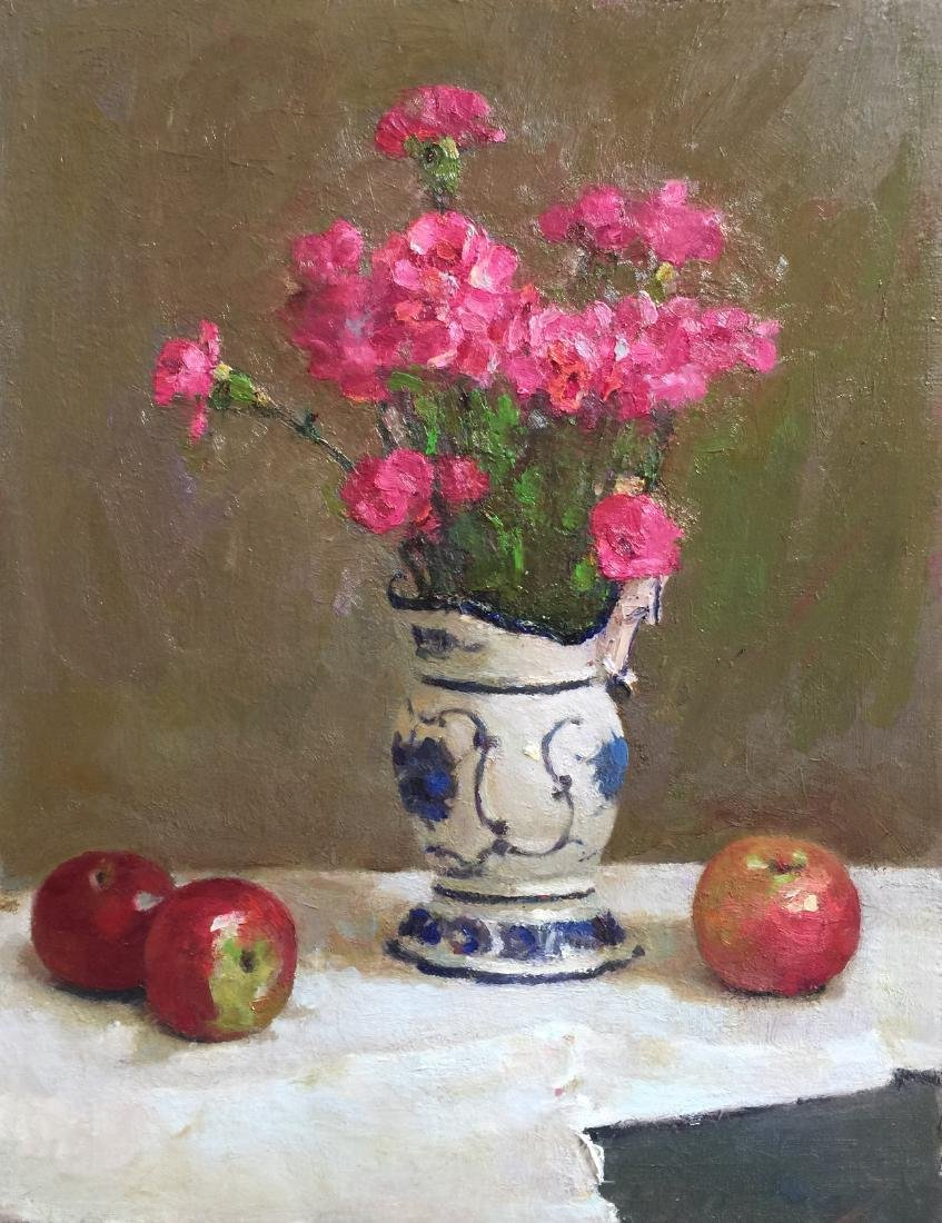 """Apples and Flowers "", Yelena Snovsky"