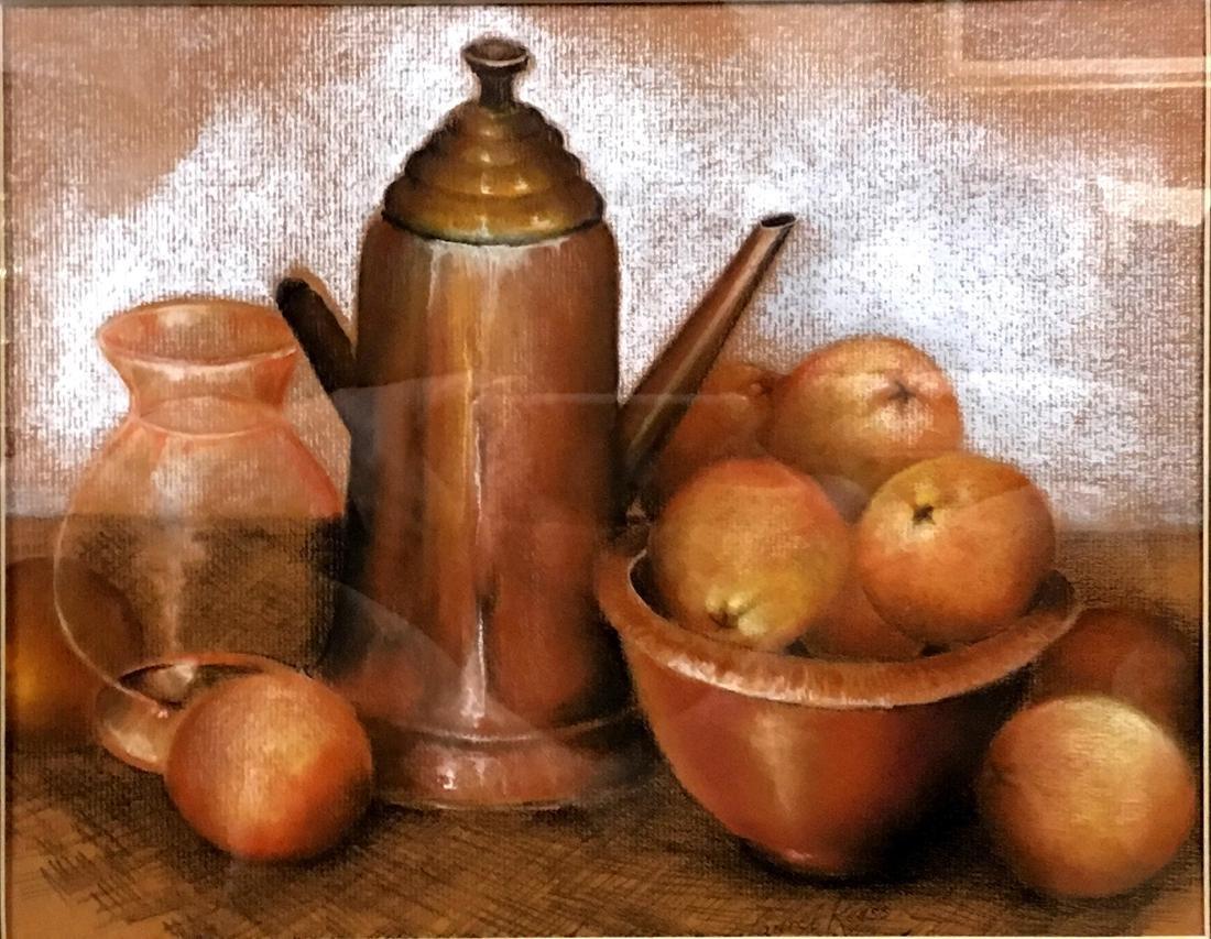 """Copper Pot with Oranges"", Laurel Reuss"
