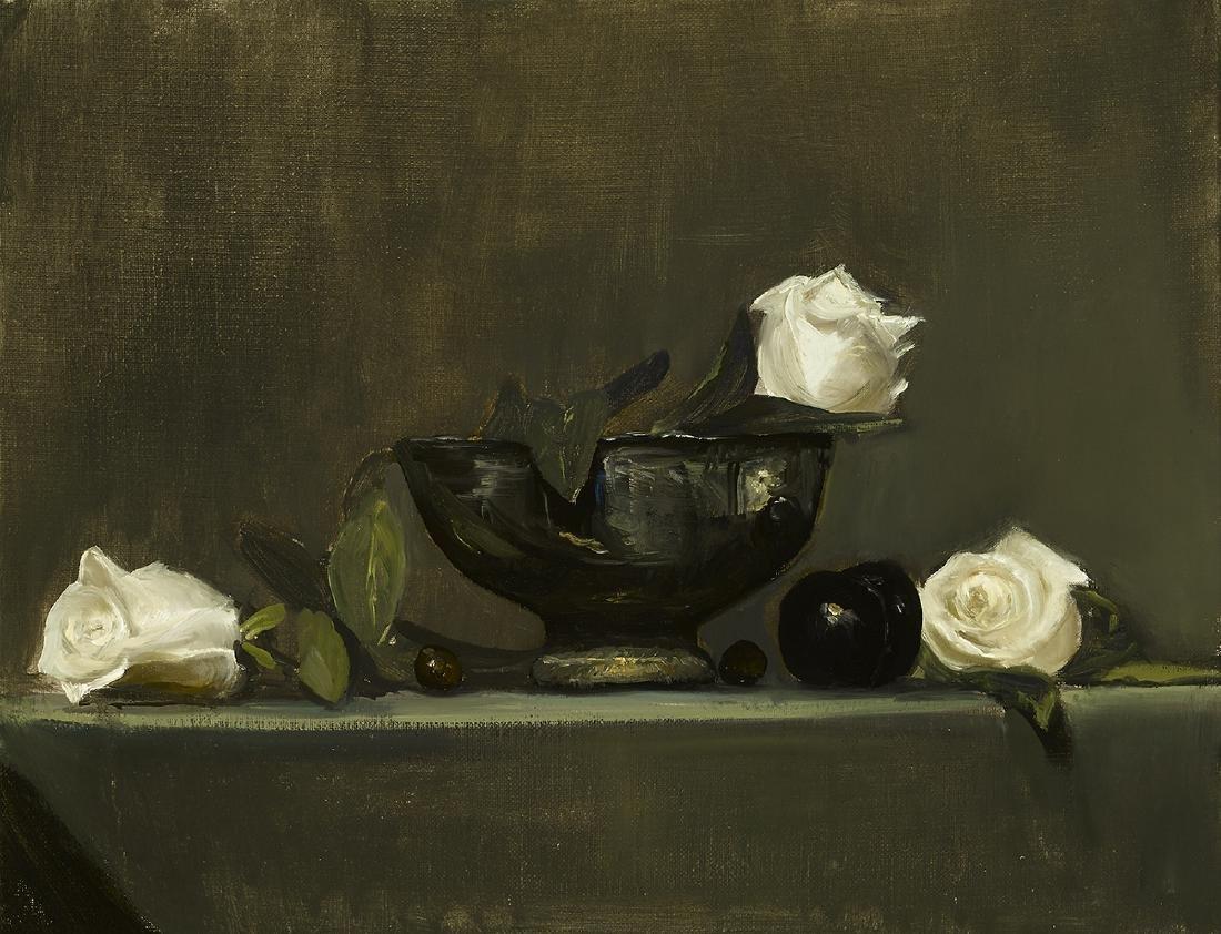 """""""White Rose Still LIfe"""", Sharon Pearsall"""