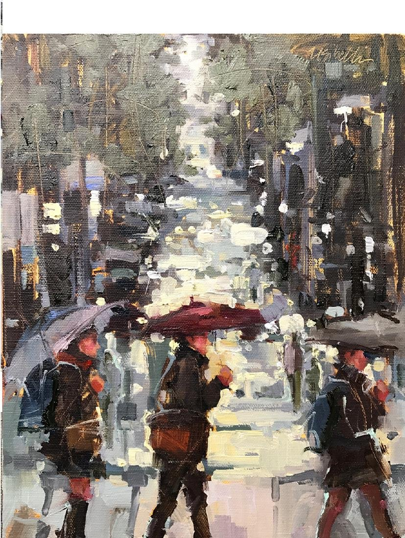"""Rainy Commute"", Michele Usibelli"
