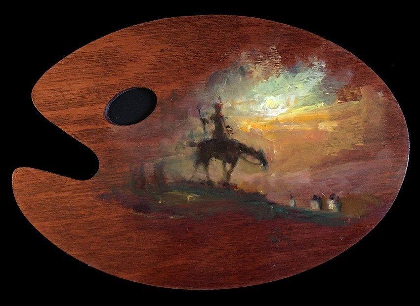 "Painted ""Art Palette"" by David A. Leffel"