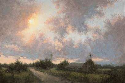 """Sunset on Q Road"", Jane Hunt"