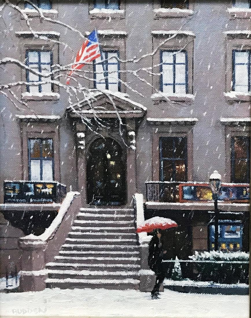 """Winter Afternoon Salmagundi Club "", Mike Budden"