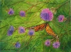 Monarch  Thistles Sharon WayHoward