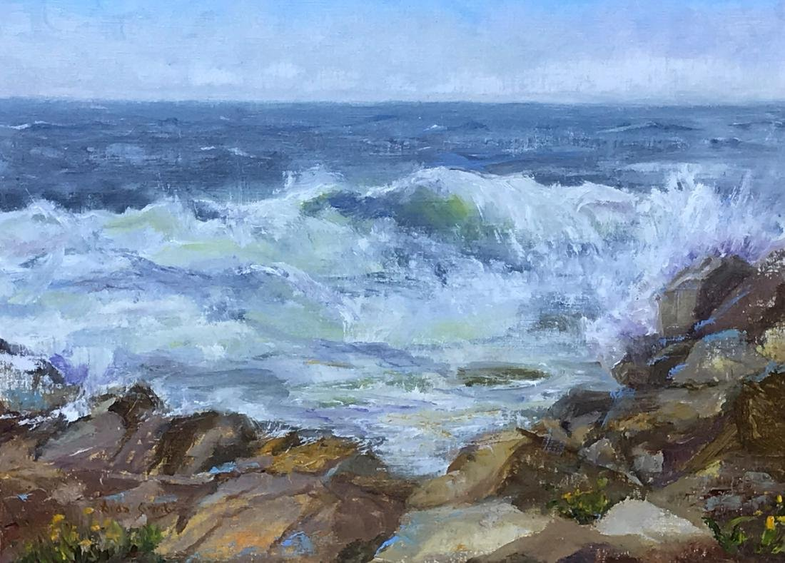 """Monhegan Morning Surf"", Aida Garrity"