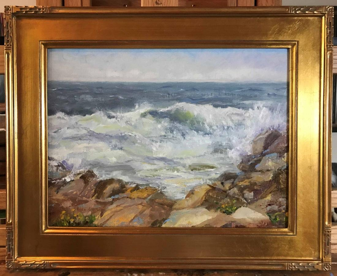 """Monhegan Morning Surf"", Aida Garrity - 2"