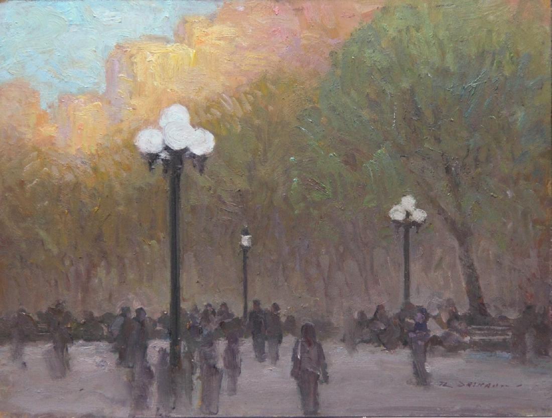 """Washington Square Park at Sunset"", Rick Daskam"