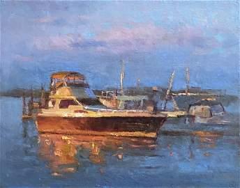 """""""Sunset at Marina """", Yelena Snovsky"""