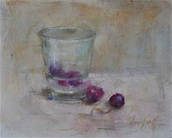 Glass with Cherries, Stephanie Birdsall