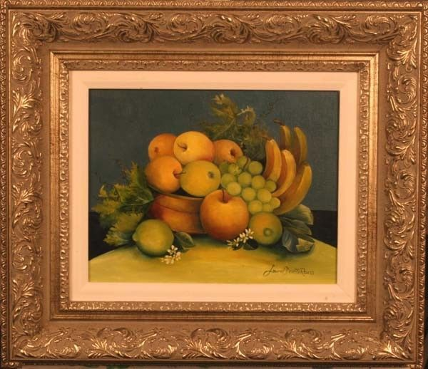 "21:""Green & Yellow Fruit w/Blooms,"" Laurel Devoti Reuss"