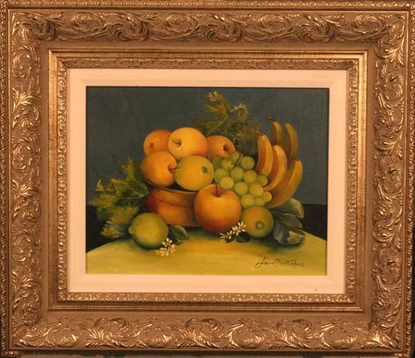 "21:""Green & Yellow Fruit w/Blooms,"" Laurel Devoti Reuss"