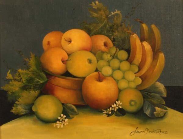 "21:""Green & Yellow Fruit w/Blooms,"" Laurel Devoti Reuss - 2"
